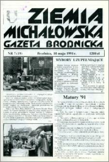Ziemia Michałowska : Gazeta Brodnicka R. 1991, Nr 7 (19)