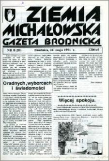 Ziemia Michałowska : Gazeta Brodnicka R. 1991, Nr 8 (20)