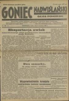 Goniec Nadwislanski : Głos Pomorski : niezależne pismo poranne poświęcone sprawom stanu średniego : 1931.09.02, R.7 nr 201