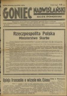 Goniec Nadwiślański : Głos Pomorski : niezależne pismo poranne poświęcone sprawom stanu średniego : 1935.04.03, R. 11 nr 78