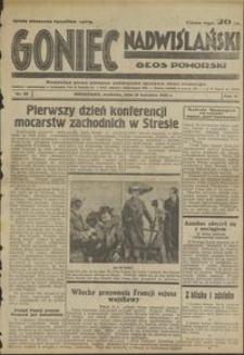 Goniec Nadwiślański : Głos Pomorski : niezależne pismo poranne poświęcone sprawom stanu średniego : 1935.04.14, R. 11 nr 88