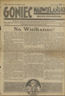 Goniec Nadwiślański : Głos Pomorski : niezależne pismo poranne poświęcone sprawom stanu średniego : 1935.04.21, R. 11 nr 94