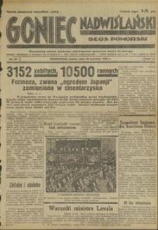 Goniec Nadwiślański : Głos Pomorski : niezależne pismo poranne poświęcone sprawom stanu średniego : 1935.04.26, R. 11 nr 97