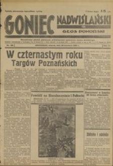 Goniec Nadwiślański : Głos Pomorski : niezależne pismo poranne poświęcone sprawom stanu średniego : 1935.04.30, R. 11 nr 100