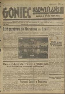 Goniec Nadwiślański : Głos Pomorski : niezależne pismo poranne poświęcone sprawo stanu średniego : 1935.05.11, r. 11 nr 109