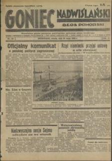 Goniec Nadwiślański : Głos Pomorski : niezależne pismo poranne poświęcone sprawom stanu średniego : 1935.05.25, R. 11 nr 121