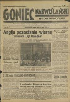 Goniec Nadwiślański : Głos Pomorski : niezależne pismo poranne poświęcone sprawom stanu średniego : 1935.07.10, R. 11 nr 156