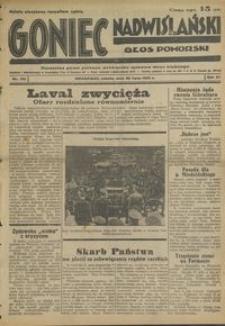 Goniec Nadwiślański : Głos Pomorski : niezależne pismo poranne poświęcone sprawom stanu średniego : 1935.07.20, R. 11 nr 165
