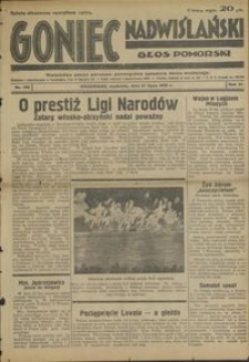 Goniec Nadwiślański : Głos Pomorski : niezależne pismo poranne poświęcone sprawom stanu średniego : 1935.07.21, R. 11 nr 166