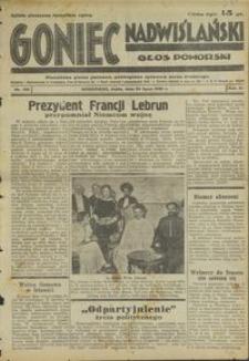 Goniec Nadwiślański : Głos Pomorski : niezależne pismo poranne poświęcone sprawom stanu średniego : 1935.07.24, R. 11 nr 168