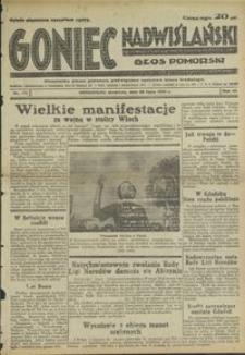 Goniec Nadwiślański : Głos Pomorski : niezależne pismo poranne poświęcone sprawom stanu średniego : 1935.07.28, R. 11 nr 172