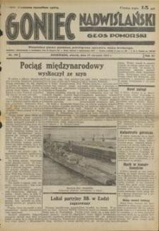 Goniec Nadwiślański : Głos Pomorski : niezależne pismo poranne poświęcone sprawom stanu średniego : 1935.08.27, R. 11 nr 196