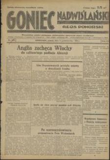 Goniec Nadwiślański : Głos Pomorski : niezależne pismo poranne poświęcone sprawom stanu średniego :1936.10.02, R. 12 nr 229