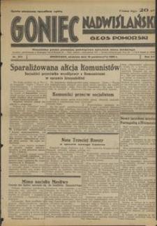 Goniec Nadwiślański : Głos Pomorski : niezależne pismo poranne poświęcone sprawom stanu średniego :1936.10.18, R. 12 nr 243