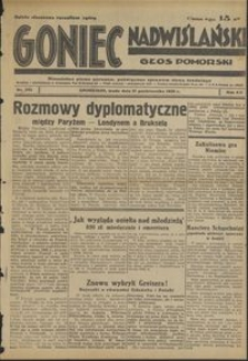 Goniec Nadwiślański : Głos Pomorski : niezależne pismo poranne poświęcone sprawom stanu średniego : 1936.10.21, R. 12 nr 245