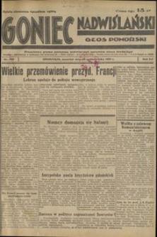 Goniec Nadwiślański : Głos Pomorski : niezależne pismo poranne poświęcone sprawom stanu średniego : 1936.10.22, R. 12 nr 246