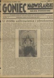 Goniec Nadwiślański : Głos Pomorski : niezależne pismo poranne poświęcone sprawom stanu średniego : 1936.10.25, R. 12 nr 249