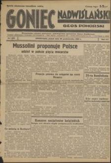 Goniec Nadwiślański : Głos Pomorski : niezależne pismo poranne poświęcone sprawom stanu średniego : 1936.10.30, R. 121 nr 253