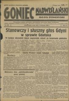Goniec Nadwiślański : Głos Pomorski : niezależne pismo poranne poświęcone sprawom stanu średniego : 1936.11.11, R. 12 nr 263