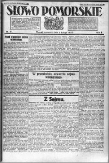 Słowo Pomorskie 1922.02.02 R.2 nr 27