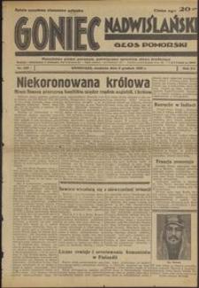 Goniec Nadwiślański : Głos Pomorski : niezależne pismo poranne poświęcone sprawom stanu średniego : 1936.12.06, R. 12 nr 285