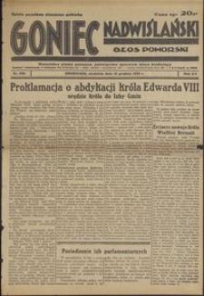 Goniec Nadwiślański : Głos Pomorski : niezależne pismo poranne poświęcone sprawom stanu średniego : 1936.12.13, R. 12 nr 290