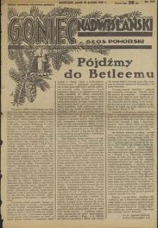 Goniec Nadwiślański : Głos Pomorski : niezależne pismo poranne poświęcone sprawom stanu średniego : 1936.12.25, R. 12 nr 300