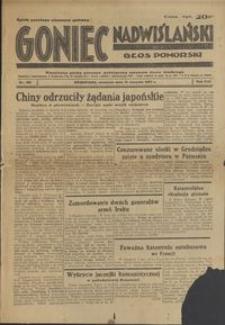 Goniec Nadwiślański : Głos Pomorski : niezależne pismo poranne poświęcone sprawom stanu średniego : 1937.08.15, R. 13 nr 186