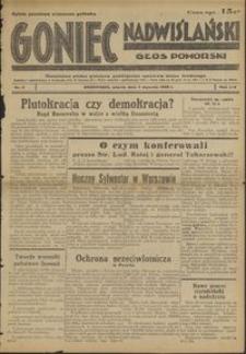 Goniec Nadwiślański : Głos Pomorski : niezależne pismo poranne poświęcone sprawom stanu średniego : 1938.01.04, R. 14 nr 2