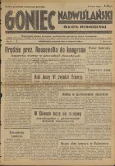 Goniec Nadwiślański : Głos Pomorski : niezależne pismo poranne poświęcone sprawom stanu średniego : 1938.01.06, R. 14 nr 4