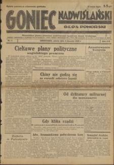 Goniec Nadwiślański : Głos Pomorski : niezależne pismo poranne poświęcone sprawom stanu średniego : 1938.01.08, R. 14 nr 5