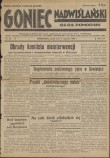 Goniec Nadwiślański : Głos Pomorski : niezależne pismo poranne poświęcone sprawom stanu średniego : 1938.01.14, R. 14 nr 10