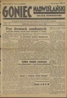 Goniec Nadwiślański : Głos Pomorski : niezależne pismo poranne poświęcone sprawom stanu średniego : 1938.01.25, R. 14 nr 19