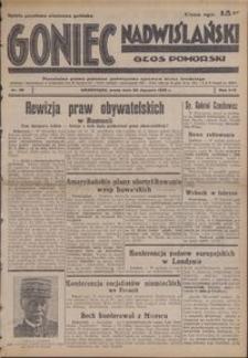 Goniec Nadwiślański : Głos Pomorski : niezależne pismo poranne poświęcone sprawom stanu średniego : 1938.01.26, R. 14 nr 20