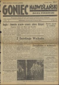 Goniec Nadwiślański : Głos Pomorski : niezależne pismo poranne poświęcone sprawom stanu średniego : 1938.01.27, R. 14 nr 21