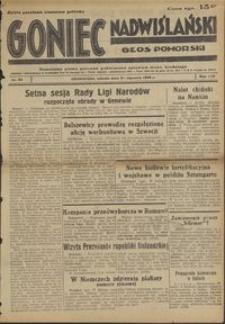 Goniec Nadwiślański : Głos Pomorski : niezależne pismo poranne poświęcone sprawom stanu średniego : 1938.01.29, R. 14 nr 23