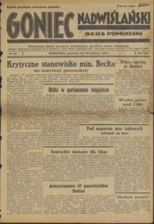 Goniec Nadwiślański : Głos Pomorski : niezależne pismo poranne poświęcone sprawom stanu średniego : 1938.01.30, R. 14 nr 24
