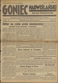 Goniec Nadwiślański : Głos Pomorski : niezależne pismo poranne poświęcone sprawom stanu średniego : 1938.02.08, R. 14 nr 30