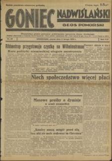Goniec Nadwiślański : Głos Pomorski : niezależne pismo poranne poświęcone sprawom stanu średniego : 1938.02.11, R. 14 nr 33