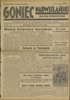 Goniec Nadwiślański : Głos Pomorski : niezależne pismo poranne poświęcone sprawom stanu średniego : 1938.02.12, R. 14 nr 34