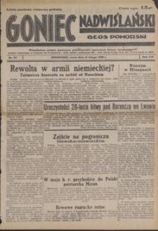 Goniec Nadwiślański : Głos Pomorski : niezależne pismo poranne poświęcone sprawom stanu średniego : 1938.02.16, R. 14 nr 37