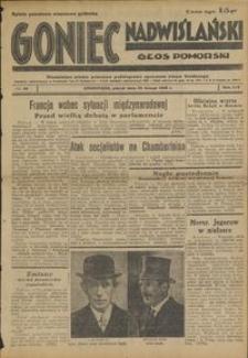 Goniec Nadwiślański : Głos Pomorski : niezależne pismo poranne poświęcone sprawom stanu średniego : 1938.02.25, R. 14 nr 46