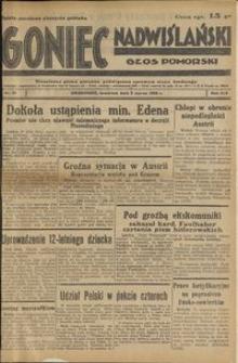 Goniec Nadwiślański : Głos Pomorski : niezależne pismo poranne poświęcone sprawom stanu średniego : 1938.03.03, R. 14 nr 51
