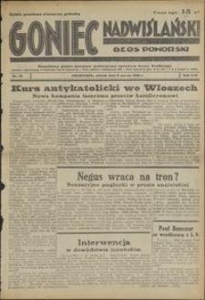 Goniec Nadwiślański : Głos Pomorski : niezależne pismo poranne poświęcone sprawom stanu średniego : 1938.03.08, R. 14 nr 55