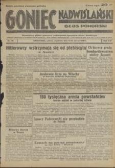 Goniec Nadwiślański : Głos Pomorski : niezależne pismo poranne poświęcone sprawom stanu średniego : 1938.03.12/13, R. 14 nr 59