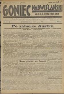 Goniec Nadwiślański : Głos Pomorski : niezależne pismo poranne poświęcone sprawom stanu średniego : 1938.03.15, R. 14 nr 61