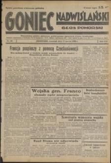 Goniec Nadwiślański : Głos Pomorski : niezależne pismo poranne poświęcone sprawom stanu średniego : 1938.03.17, R. 14 nr 63