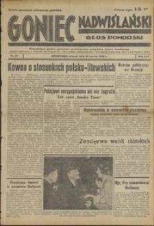 Goniec Nadwiślański : Głos Pomorski : niezależne pismo poranne poświęcone sprawom stanu średniego : 1938.03.22, R. 14 nr 67