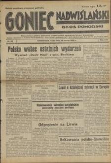 Goniec Nadwiślański : Głos Pomorski : niezależne pismo poranne poświęcone sprawom stanu średniego : 1938.03.23, R. 14 nr 68