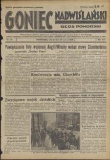 Goniec Nadwiślański : Głos Pomorski : niezależne pismo poranne poświęcone sprawom stanu średniego : 1938.03.29, R. 14 nr 73